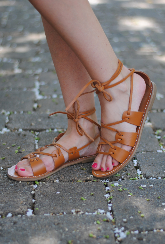 Leather gladiator sandals from Madewell
