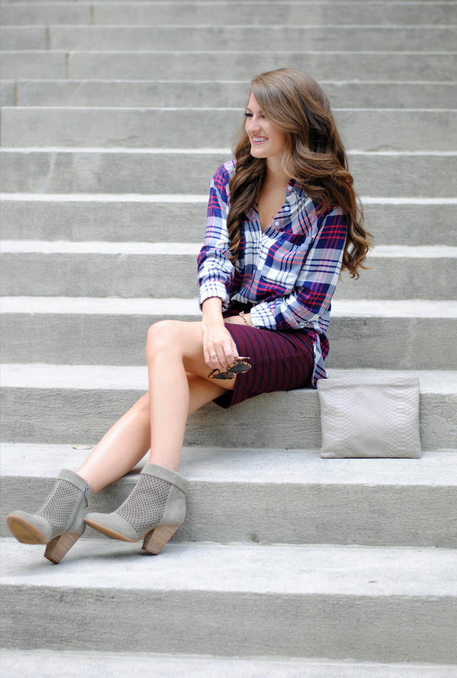 Comfortable flannel shirt with booties…