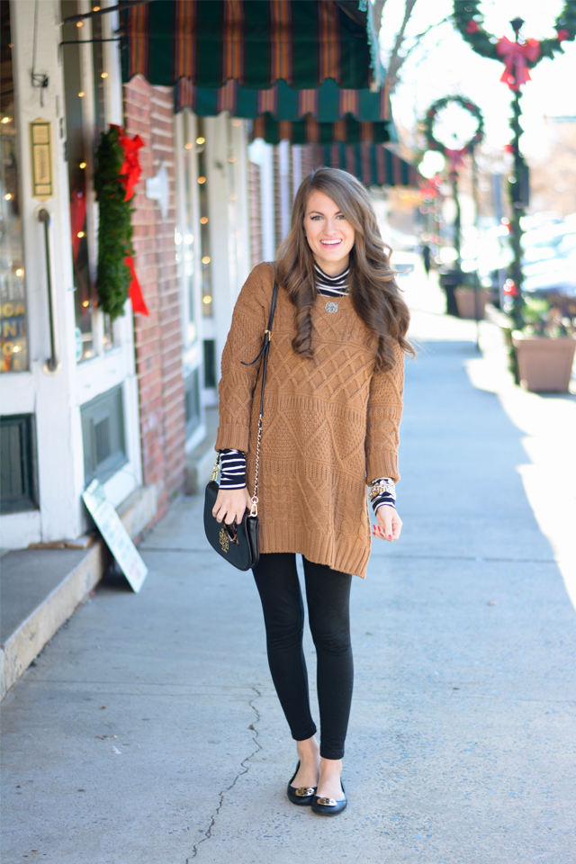 6aed0e5d18f1 Black   Brown · cable knit sweater dress ...