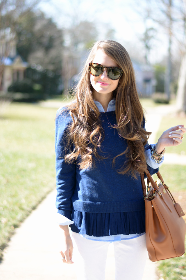 Love the ruffle sweater