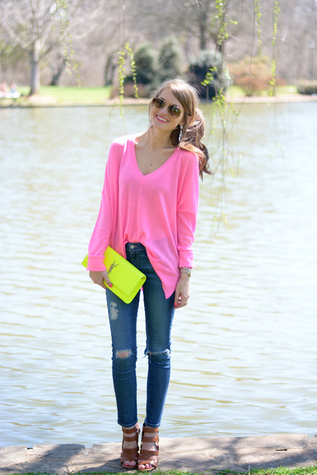 cute neon look for spring