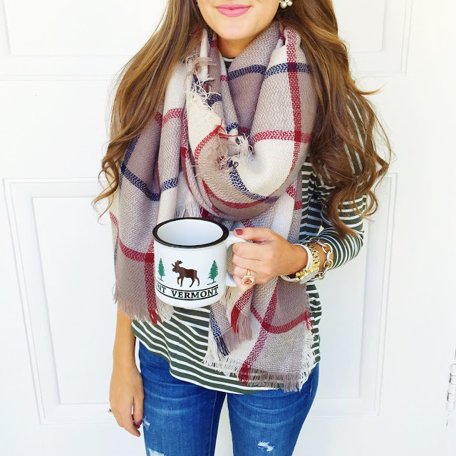 LOVE this fall blanket scarf