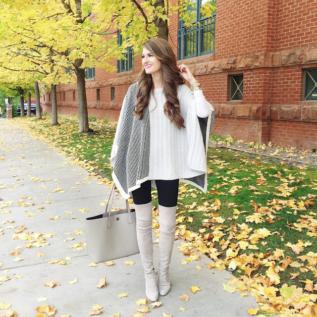 Perfect fall outfit - love the poncho!