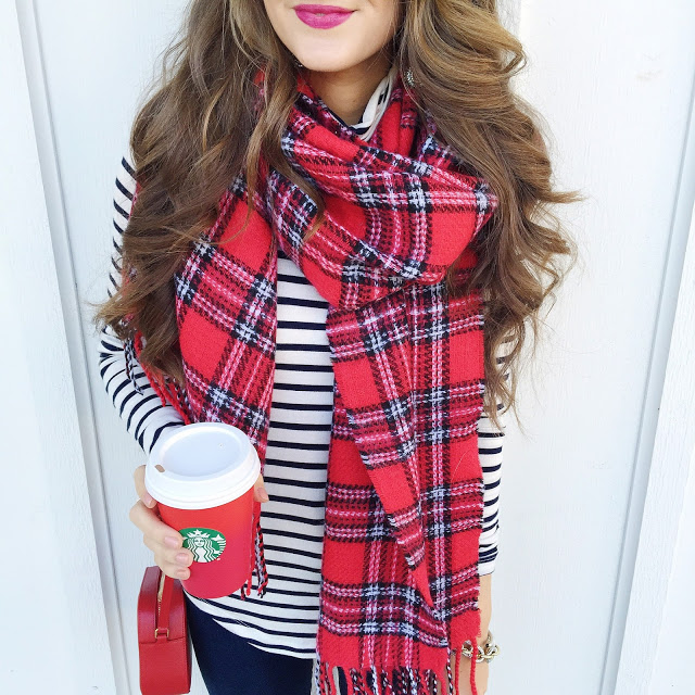 Mixing plaid with stripes