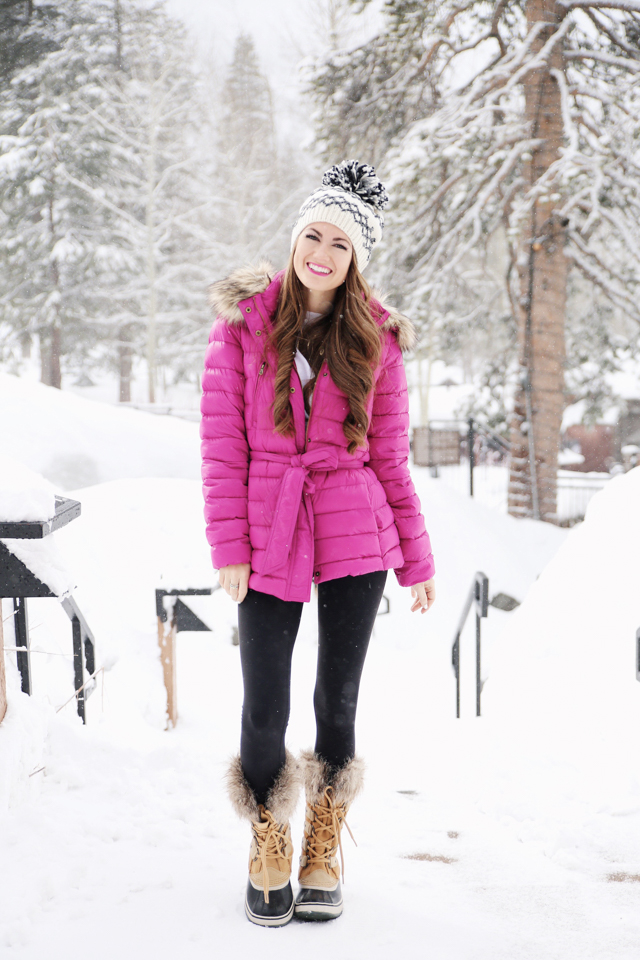 Cute Sorel boots to keep your feet warm in the snow!