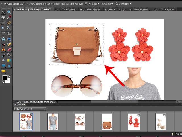 How to make a product collage for your blog