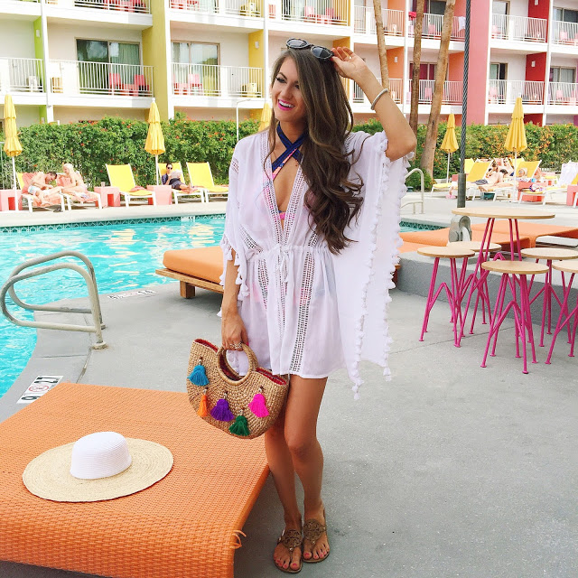 white tassel coverup for the beach/pool