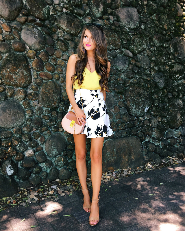 top and skirt outfit for summer