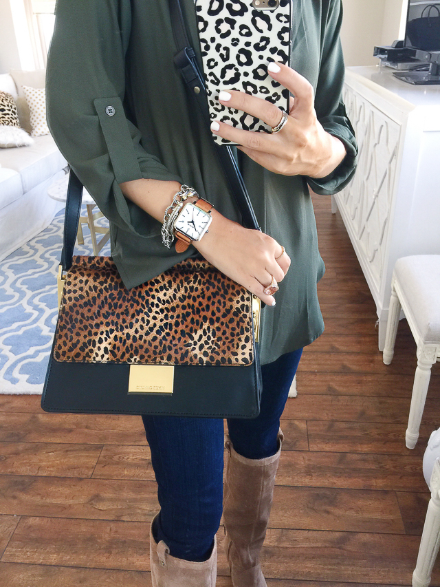 Vince Camuto leopard handbag from the Nordstrom Anniversary Sale