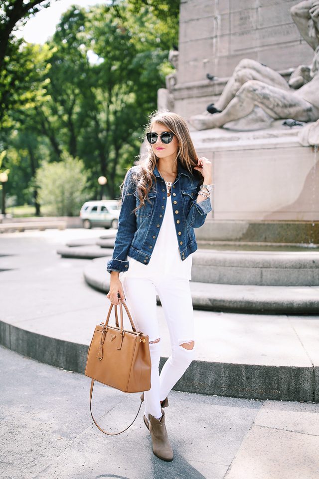 e05f5ee9f8b New York Travel Outfit · Current/Elliott jean jacket ...