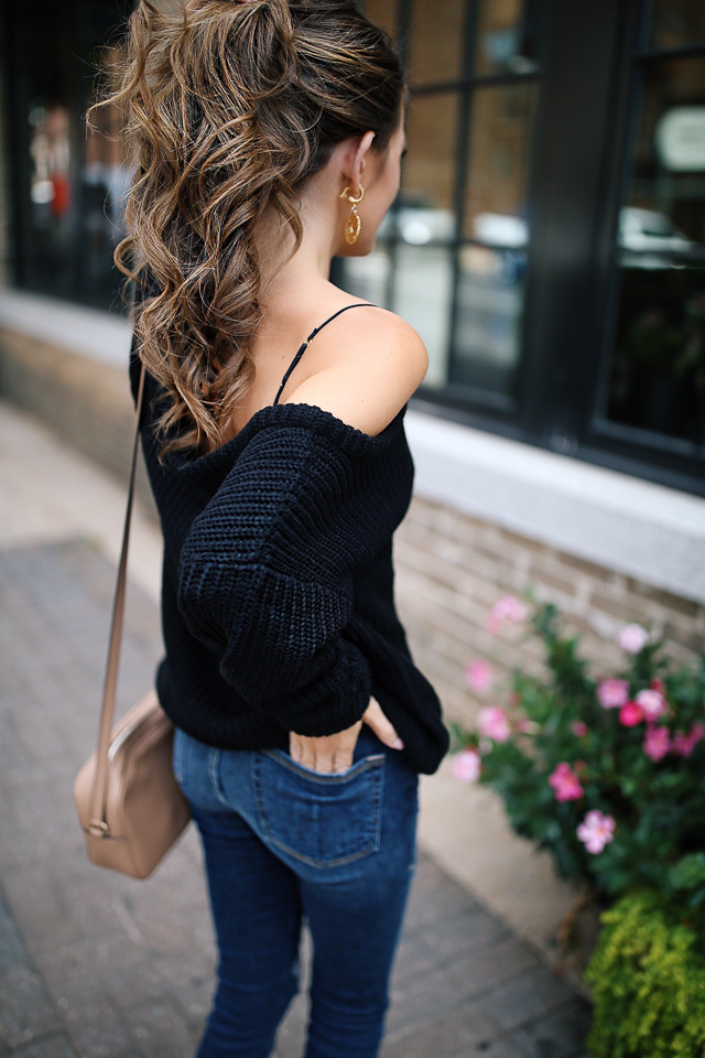 795df66220 Off-the-Shoulder Sweater with Lace Bralette – Southern Curls   Pearls