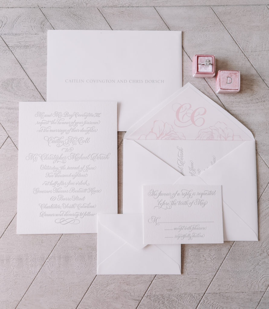 Our Wedding Invitations Southern Curls Pearls