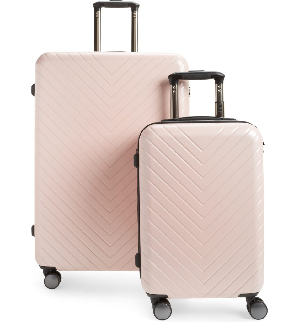 nordstrom anniversary sale Chevron 29-inch and 18-inch spinner set