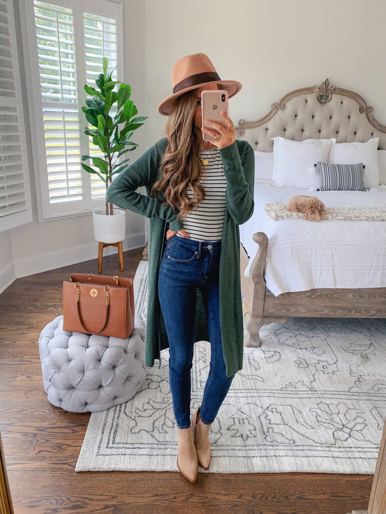 """Nordstrom Anniversary Sale Leith Longline Cardigan in """"Green Thyme Heather"""""""