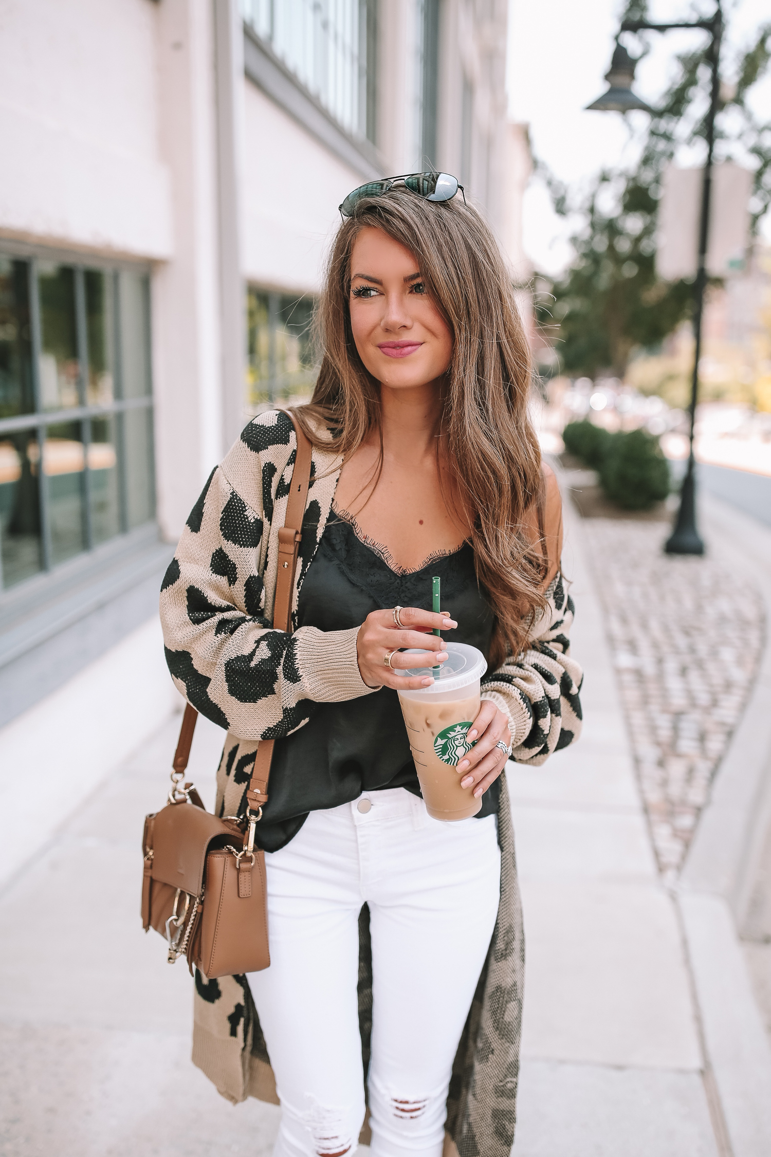Love the Look! Get Ready for Fall with a Leopard Cardigan and White Jeans